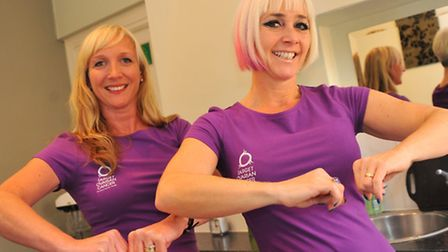 Ruth Thurston and her friend and zumba instructor, Rachel Evans, are holding a charity zumbathon to