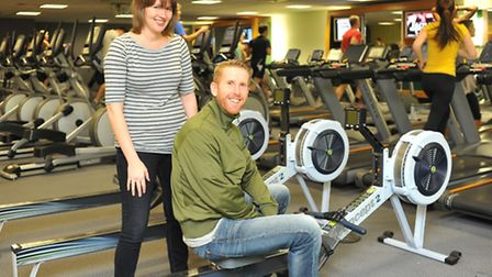 Nuffield Health aims to get three Evening News readers fit and healthy for 2013. Amy Woodyatt and he