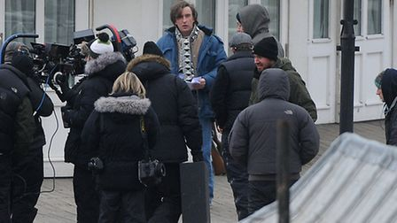 Filming of Alan Partridge, The Movie at Cromer Pier. Actor Steve Coogan, centre.PHOTO: ANTONY KELLY