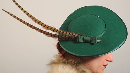 Hat by Betsy Hatter. Picture: Denise Bradley