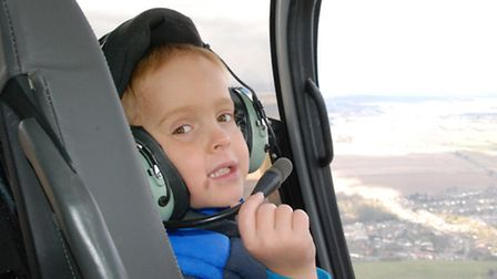 Charlie Ryan on his helicopter ride.