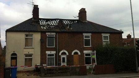 After the fire. The affected properties in Magpie Road. Pictures David Bale