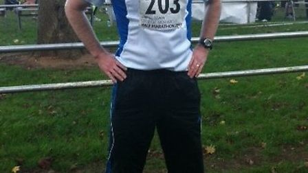 James Legg, who is running the London marathon in aid of Scope