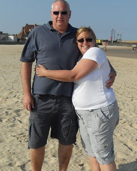 Steve and Wendy Burroughs before they lost weight.
