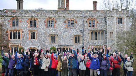 Norfolk Ramblers Association holding a commemorative walk from Mannington Hall in memory of George l