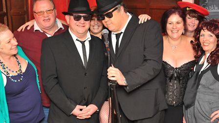 ABC Blues Brothers and regulars in fancy dress for the fundraiser in aid of Sarah Hobson, of Scuntho