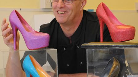 Chocolatier Gary Funnell with the £700 Saffire Slipper that the Taverham based company is producing