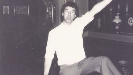 Ian Girling. A much younger Ian mucking about in the bar. Submitted Pictures