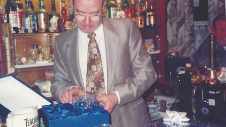 Ian Girling at his leaving do from the Lord Raglan pub. Submitted Pictures