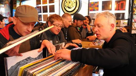 Dedicated vinyl lovers in Soundclash during Record Store Day