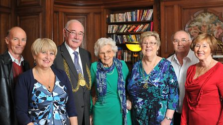 Joyce Culling celebrating her 90th birthday at St Giles hotel with The Lord Mayor and Lady Mayoress,
