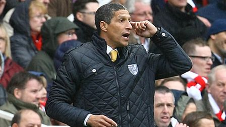 Manager Chris Hughton during the Barclays Premier League match at the Emirates Stadium. Picture by P