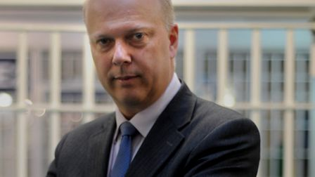 Embargoed until 0001 Tuesday 30th April. Justice Secretary Chris Grayling during a visit to Pentonvi