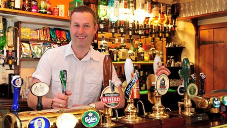 Loddon White Horse, Chedgrave is the Pub of the Week.Landlord Simon Peck.