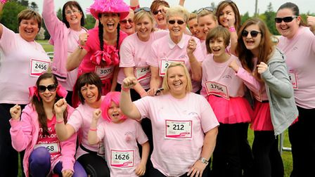 The 2013 Race for Life event at the Royal Norfolk Showground. Ali's Loopy Ladies from Lowestoft. Pic