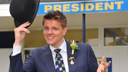Royal Norfolk Show President Jake Humphrey out and about on the first day of the show. Photo: Steve