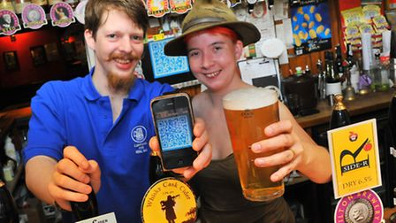 Ben and Becky Ackers at The White Lion pub in Oak Street, Norwich which is one of four pubs owned by