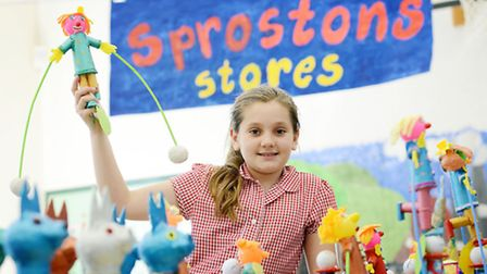 Saham Toney Primary School have held a Enterprise Week at the school. Picture: Matthew Usher.