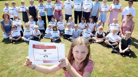 Saham Toney Primary School have held a Enterprise Week at the school - All of the winners of the ent