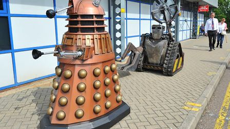 Early robots arrive at Norwich Airport ahead of the Robot Wars contest in September.Photo: Bill Smit