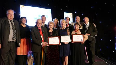 Norwich in Bloom representatives at the Britain in Bloom Awards. Pic Submitted.