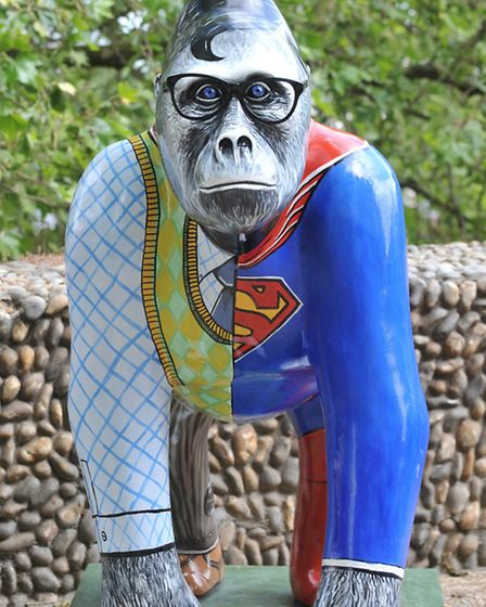 The Ape'd Crusader, the Norwich Evening News and EDP-sponsored gorilla which was based on Superman,