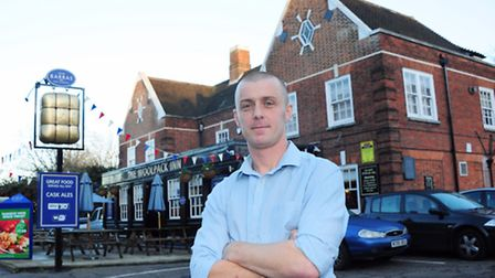 Andrew Coe who is the new landlord of the Woolpack in Norwich.PHOTO BY SIMON FINLAY