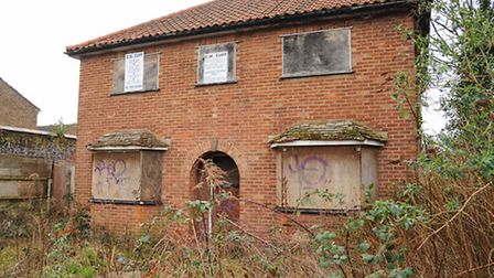 An empty, boarded up house in Northumberland Street, Norwich. Picture: Denise Bradley