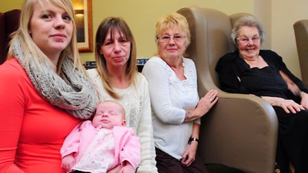 Five generations of the same family come together in Norwich for the first time. Dorothy Wood and he
