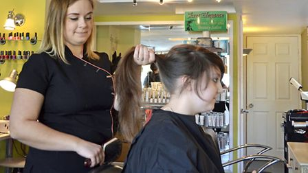 Aimee Tye, 14, who is a student at the City of Norwich School, had a charity haircut for the Little