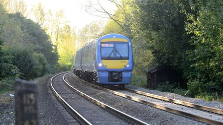 Greater Anglia train on the Norwich to Cambridge route via Ely. (Class 170). Photo: Bill Smith