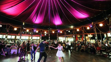 The Norfolk and Norwich Festival's Adnams Spiegeltent, one of the venues for It's Your Festival. Ph
