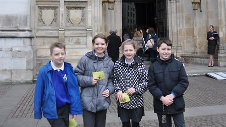 Children from St Augustine's Catholic Primary School in Costessey went to Westminster Abbey for the