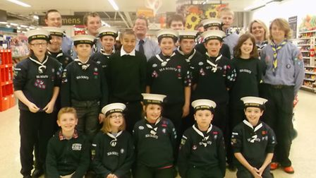 Norwich 3RD & 4TH Sea Scout group enjoyed an evening at Sainsbury's Pound Lane instead of their usua