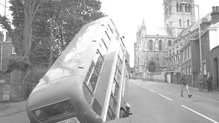 The photo of the double decker in the hole on Earlham Road became famous - but who noticed the other