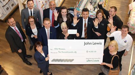 Partners (staff) at John Lewis Norwich have raised funds for the charity Star Throwers. On Tuesday,