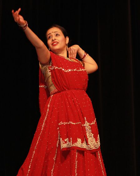 A performer at Norfolk and Norwich Hindu Cultural Society's Indian Cultural event