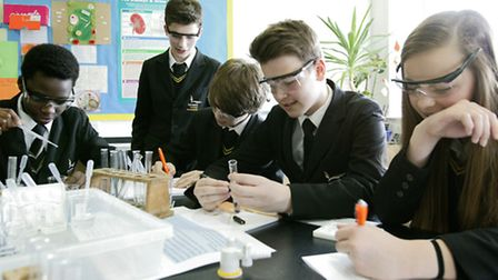 A science festival was held at Ormiston Victory Academy to help year 11 students from Victory, Ventu