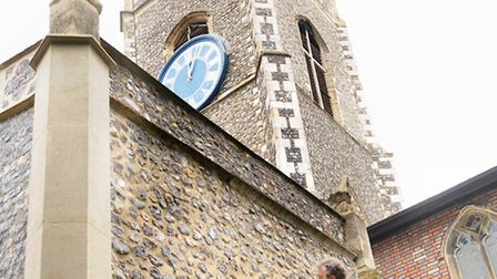 Investigative work being carried out at St George Church, Tombland. Architect David Bonner checks th