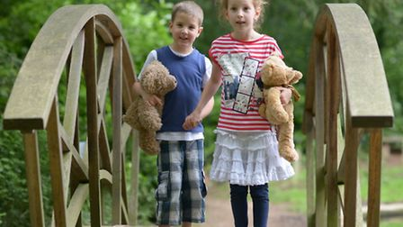William and Alice Waghorn get ready for the Teddy Bear's Picnic; Photo credit: Submitted.