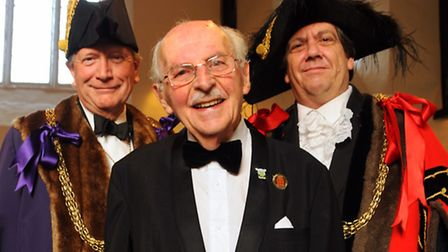 The Norwich Civic Association's St George's dinner, held at the Great Hospital. From left, Sheriff o