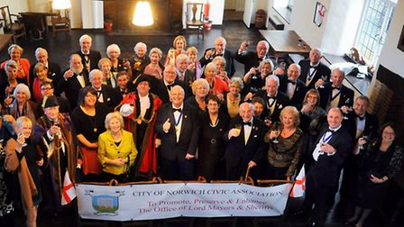 The Norwich Civic Association's St George's dinner, held at the Great Hospital. Picture: Denise Brad
