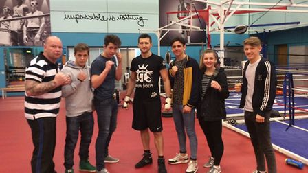 A group of Easton College students met up with one of the UK's top boxers Carl Froch at his training