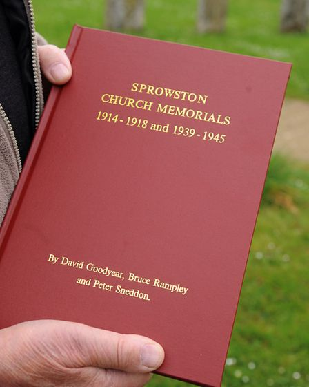 One of the leather bound Sprowston Memorial books, collated by the Sprowston Heritage group, which w