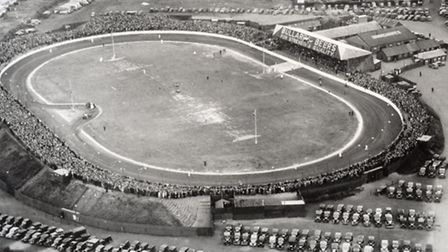 An aerial view of The Firs, once the home to the Norwich Stars speedway team