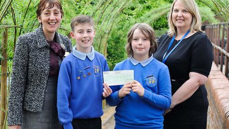 Cheque presentation from Taylor Wimpey East Anglia to George White Junior School, Norwich, to help w