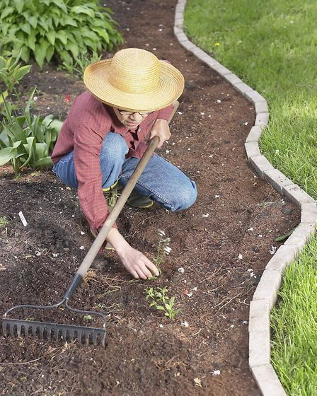 A Generic photo of a woman tidying the borders in her garden. See PA Feature GARDENING Gardening Col