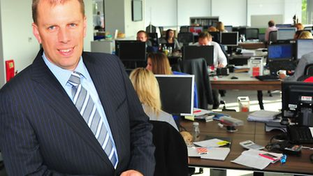 Incoming Norwich office senior partner Andy Grimbly at PwC's new offices in Norwich.PHOTO BY SIMON F