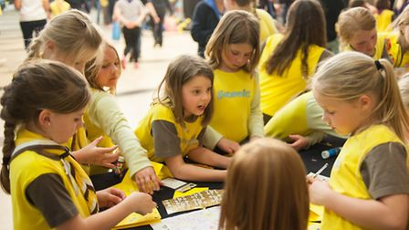 Wensum Brownies sleepover at Open in Norwich. Photo: Bill Smith