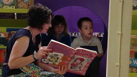 Mulbarton Infant School treated their children to a brand new library.